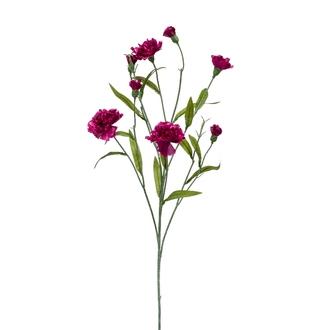 Tige ramifiée artificielle de dianthus violet 70cm