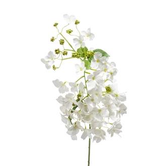 Branche artificielle d'hortensia créme 85cm
