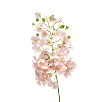 Branche artificielle d'hortensia pêche 85cm