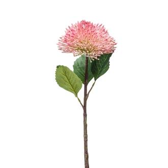 Branche artificielle de sedum rose 43cm