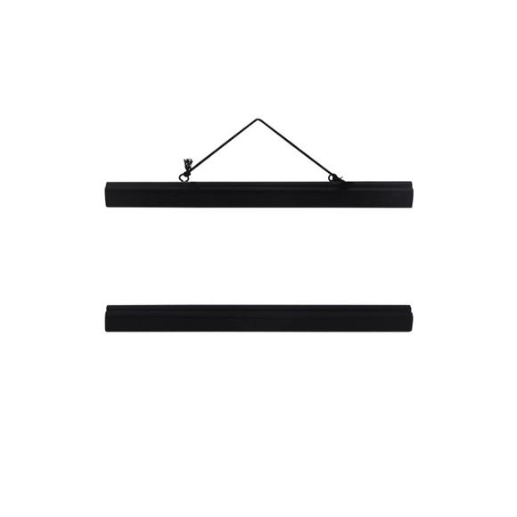 Support affiche bois noir 31cm