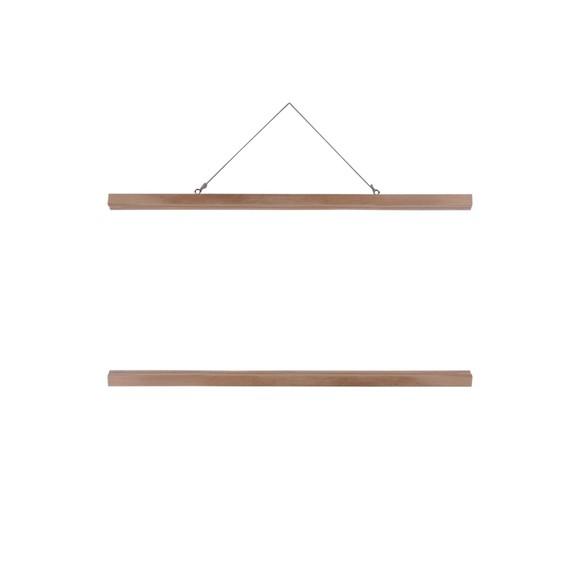 Support affiche bois naturel  51cm