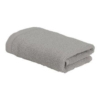 Serviette invité 30x50cm en coton cendre