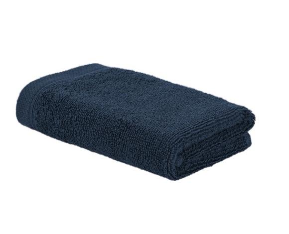 Achat en ligne Serviette invité 30x50cm en coton encre