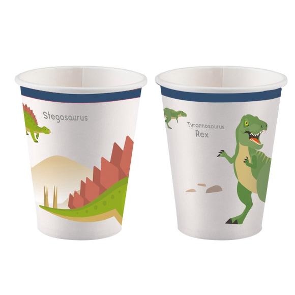 Achat en ligne 8 Gobelets Happy Dinosaure
