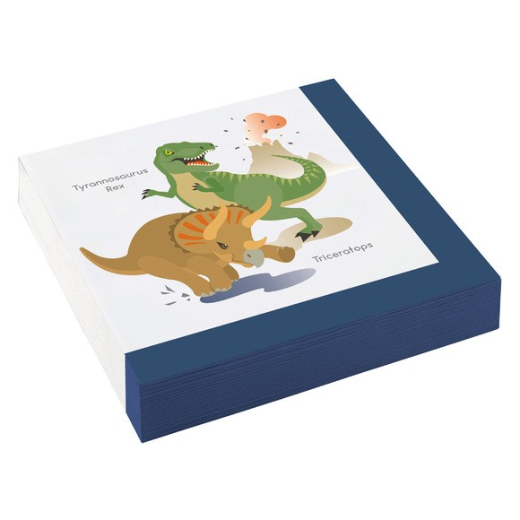 20 serviettes Happy Dinosaure