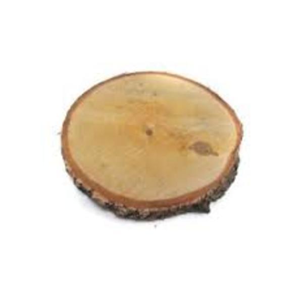 Plateau bougie tronc darbre d18cm