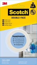 Achat en ligne Rouleau double face transparent  19mmx1,5m charge 5kg
