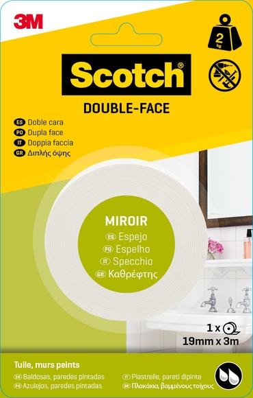 Achat en ligne Rouleau double face miroir 19mmxcharge 2kg