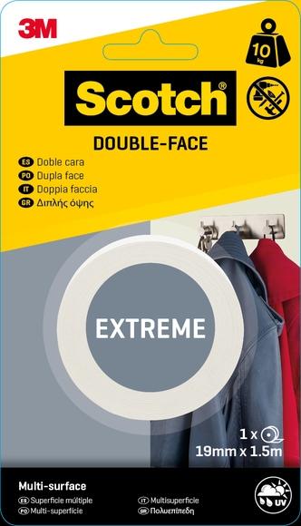 Achat en ligne Rouleau double face extrème  19mmx1,5m charge 10kg