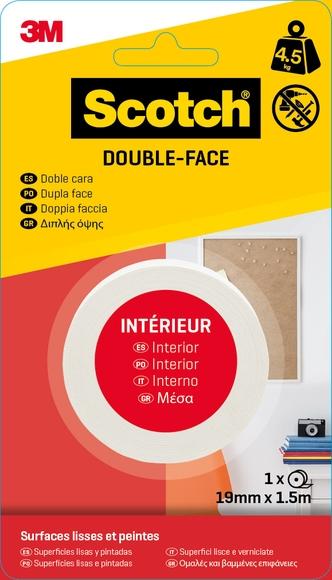 Achat en ligne Rouleau double face 19mmx1,5m charge 4,5kg