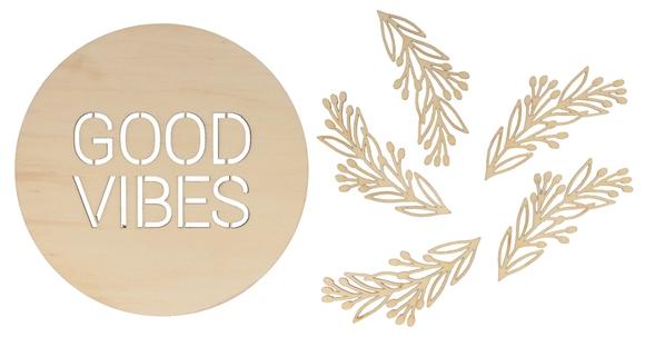 Achat en ligne Médaillon DIY Good Vibes + 5 feuilles