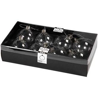 8 boules en verre Ø6cm