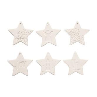 6 étoiles à suspendre céramique