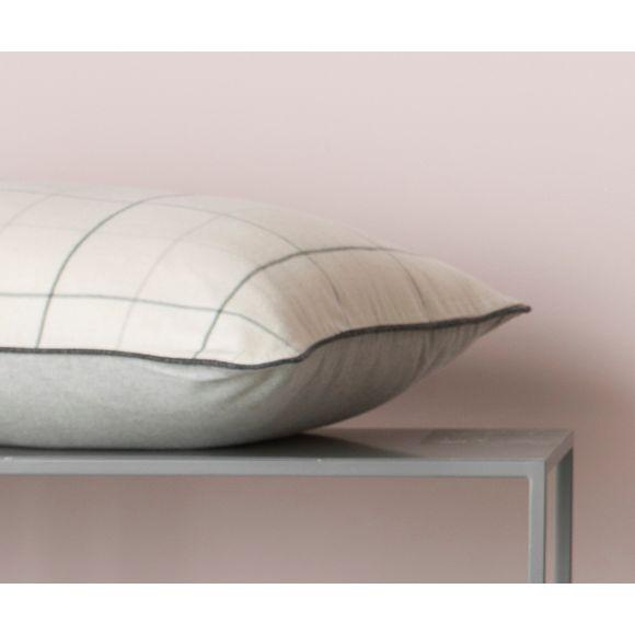 acquista online Federa in flanella a quadri grigio 50x70