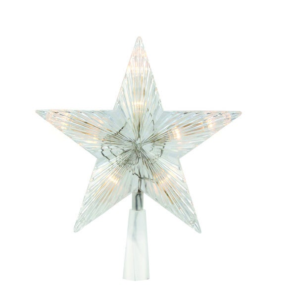 Cimier étoile pour sapin 10 LED blanc chaud 20cm