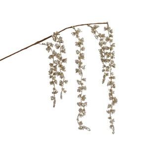 Branche de saule pailletée perle 95cm