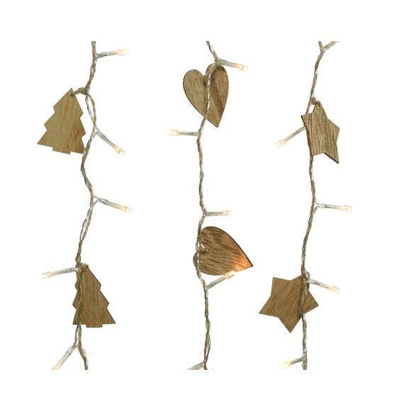 Décoration de Noël guirlandes cœur étoile arbre bois led