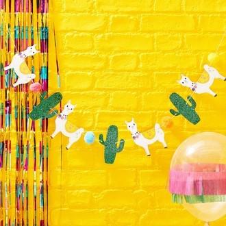 Guirlande lama et cactus