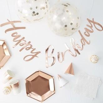 Party box happy birthday rose