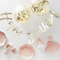 Party box Happy birthday ombre rose et or