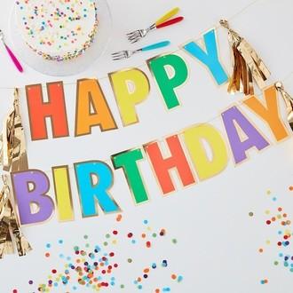 Guirlande happy birthday multicolore