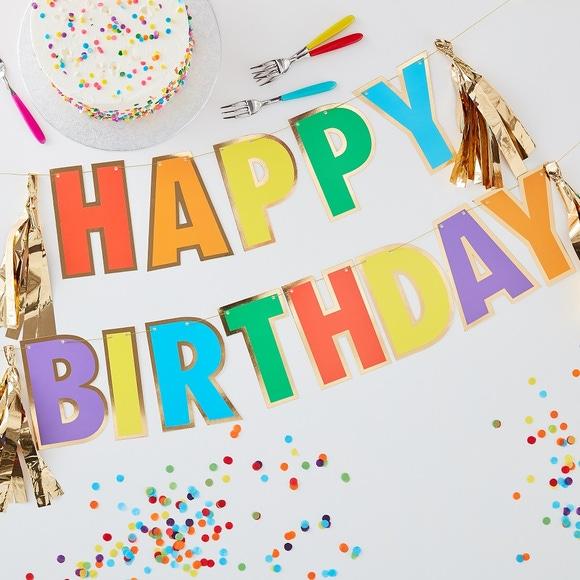 Achat en ligne Guirlande Happy birthday multicolore
