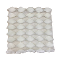 Plaid in poliestere bianco 125x150cm