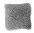 Coussin carrée 40x40cm en polyester gris argent Frisette