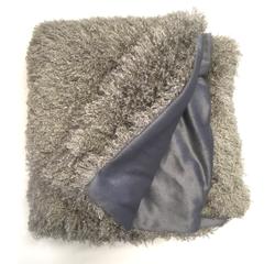 Achat en ligne Plaid Frisette gris argent Soin 125x150cm