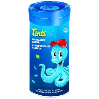 Tube de couleurs pour le bain bleu