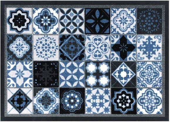 Achat en ligne Tapis polyamide imprimé 40x60 cm carreaux Valenzia