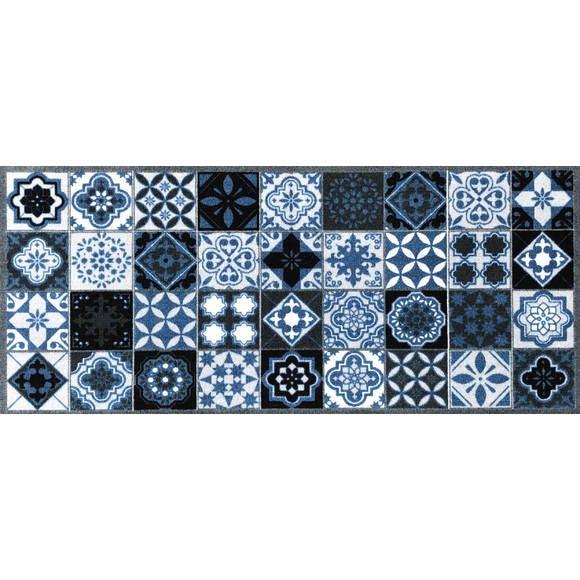 Tapis de cuisine 50x120 cm carreaux Valenzia