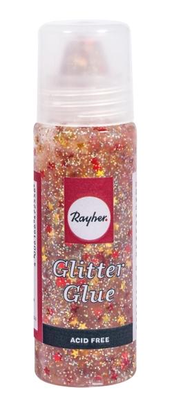 Achat en ligne Glitter glue or et rouge