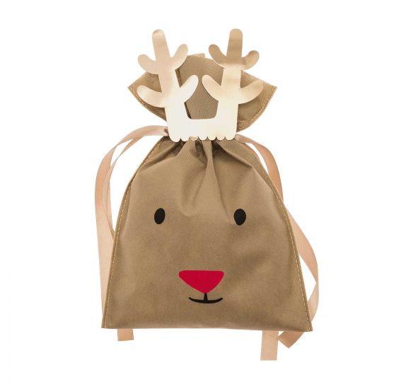 Achat en ligne Petit sac papier marron renne