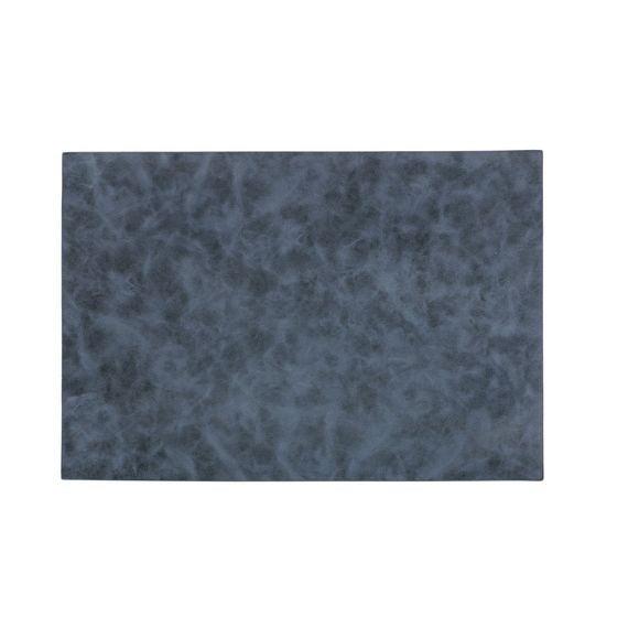 Tovaglietta americana rettangolare poliestere blu 33x45cm