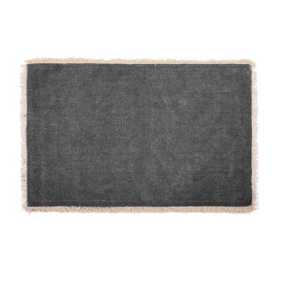Tovaglietta americana rettangolare cotone nero 33x48cm