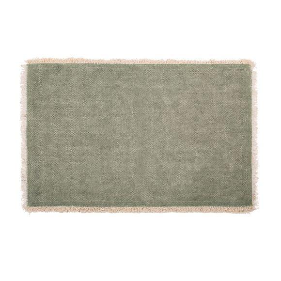 Tovaglietta americana rettangolare cotone verde 33x48cm