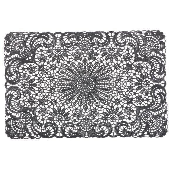 acquista online Tovaglietta americana rettangolare cotone bianco nero 30x45cm