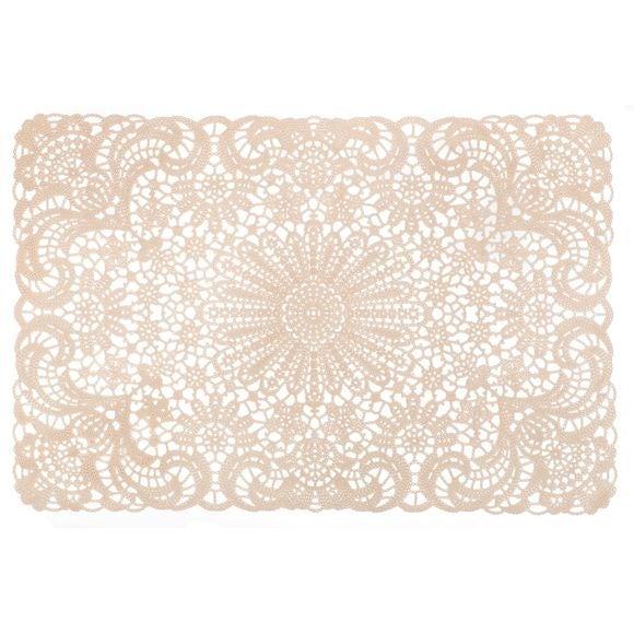 Tovaglietta americana rettangolare cotone bianco avorio 30x45cm