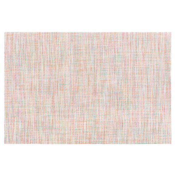 Tovaglietta americana rettangolare poliestere rosa 30x45cm