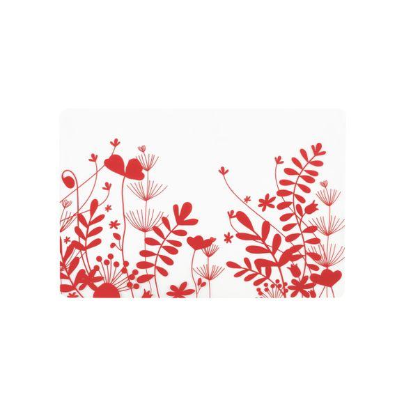 Set de table en silicone rouge peva 30x45 cm