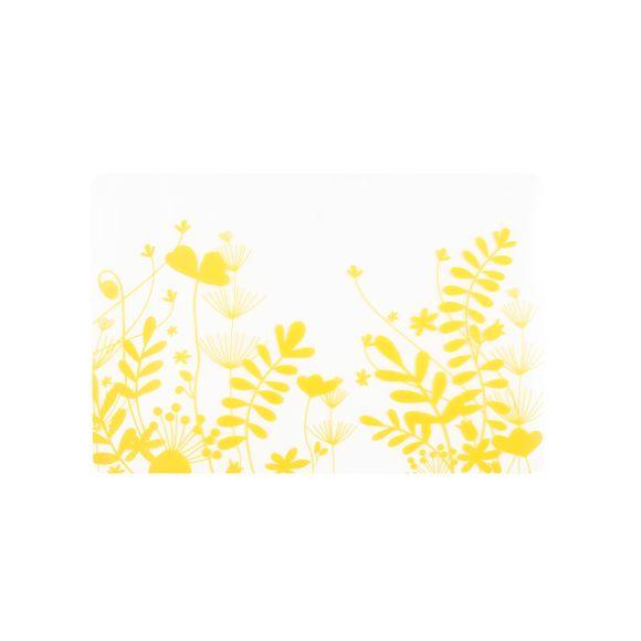 Set de table en silicone jaune peva 30x45 cm