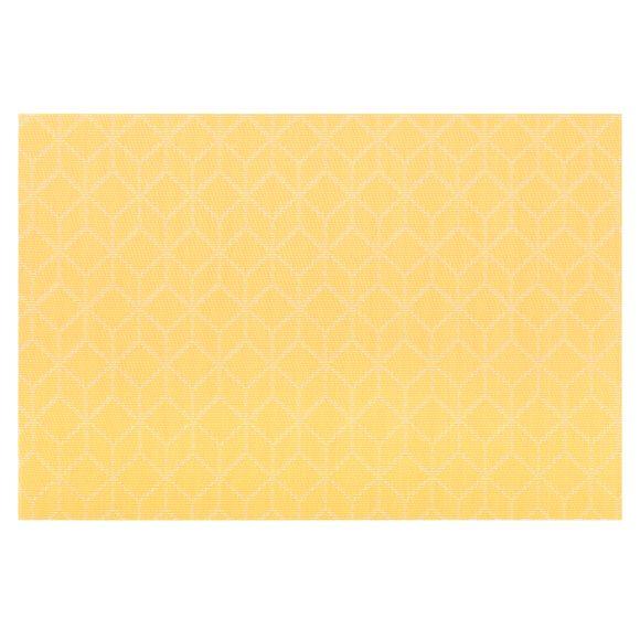 acquista online Tovaglietta americana rettangolare poliestere cubi giallo 30x45cm