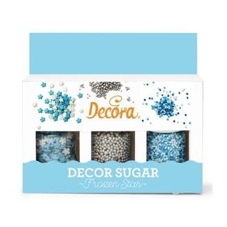 Set de décors en sucre flocon 78g