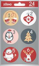 Achat en ligne 24 stickers enfant Calendrier de l'Avent