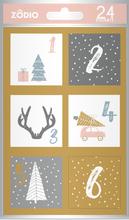 Achat en ligne 24 stickers pour Calendrier de l'Avent