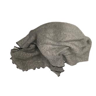 Plaid in cotone grigio 130x150cm