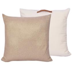 compra en línea Cojín de suelo de algodón de malla rosa Fiona (60 x 60 cm)