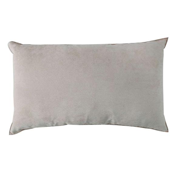 Cuscino rettangolare in velluto rosa 30x60cm